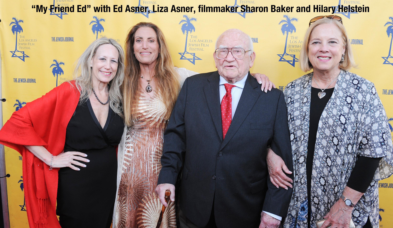 Hilary Helstein, Liza Asner, Ed Asner, Sharon Baker