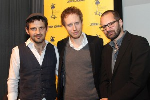 (L-R) Actor Geza Rohrig, director Laszlo Nemes, DP Matyas Erdely